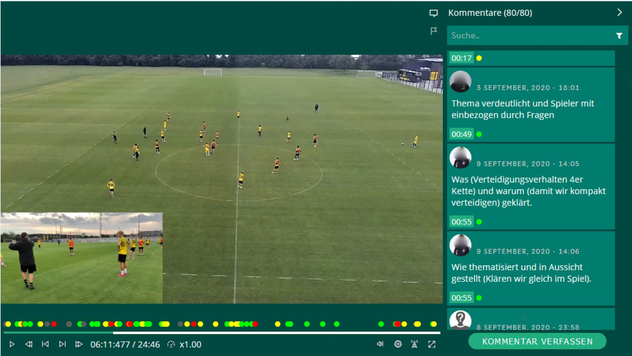 DFB Fußball-Lehrer-Lehrgang mit Social Video in edubreak